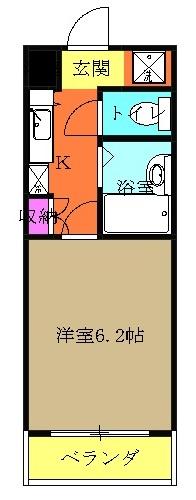 ラ・コート・ドール津田沼 315号室の間取り