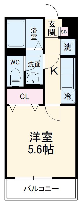 リブリ・検見川町 106号室の間取り