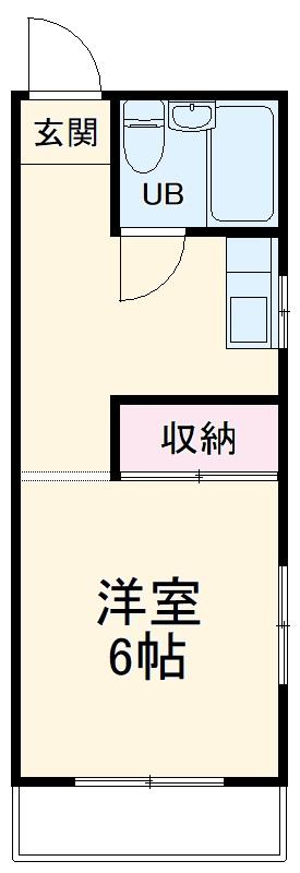 立川荘 205号室の間取り
