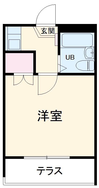 東船橋第2レジデンス 101号室の間取り