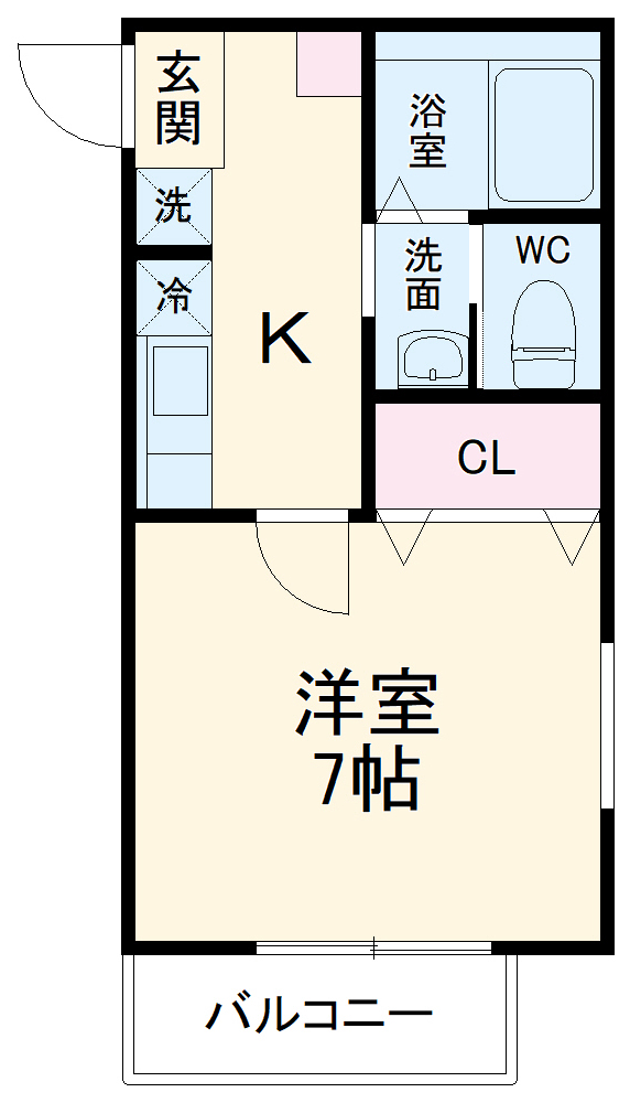 (仮称)キャメル東船橋Ⅱ 205号室の間取り