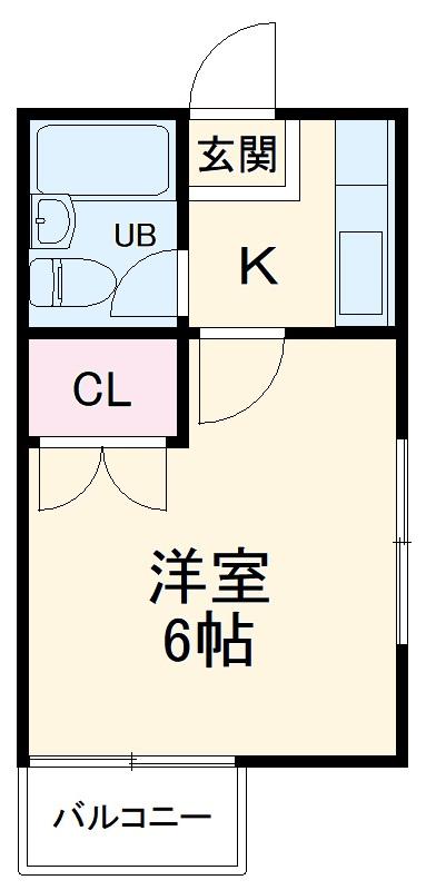 ハウスピアヤマモト 105号室の間取り