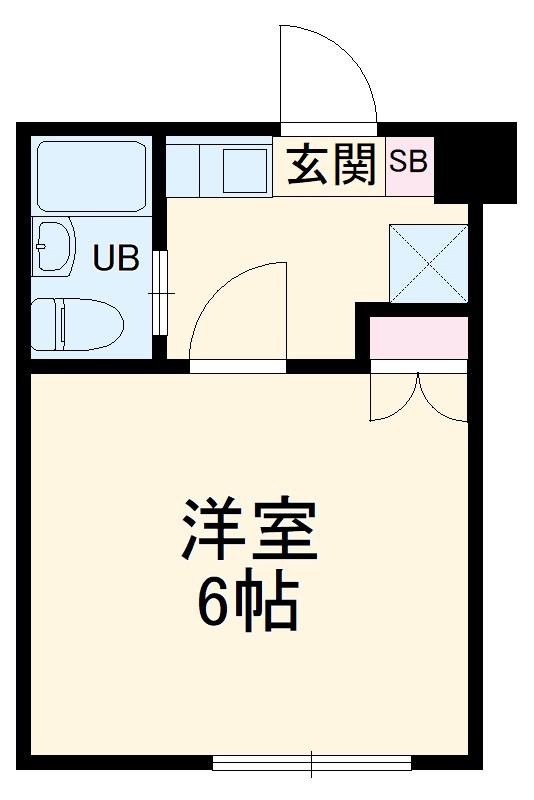 スカイコート武蔵小杉第5 208号室の間取り