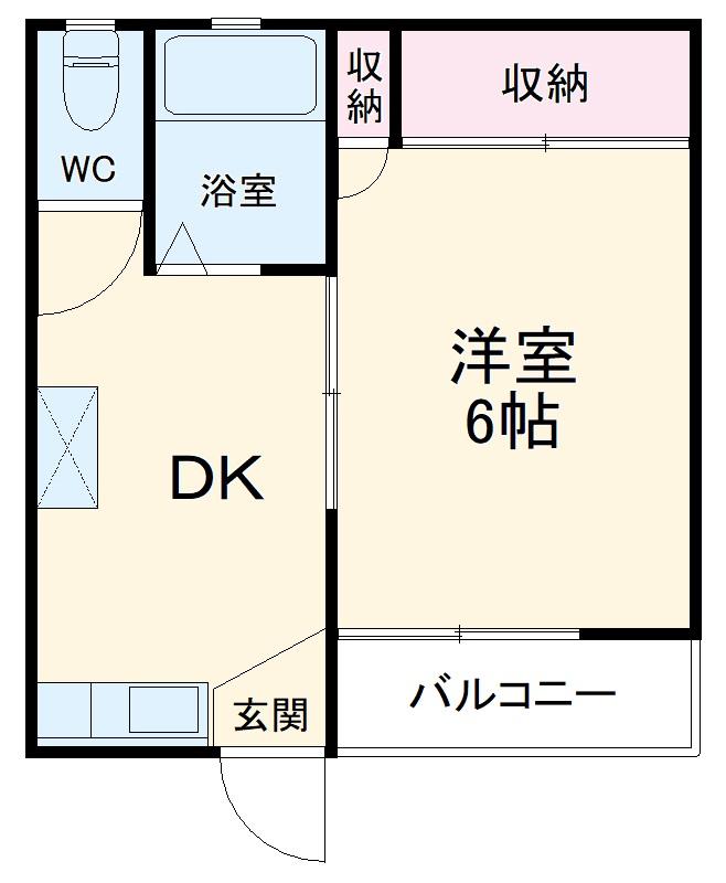 長谷川ハイツ 202号室の間取り