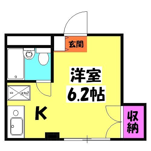 コンフォートマンション北戸田 523号室の間取り