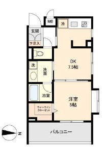 CASSIA新高円寺 508号室の間取り