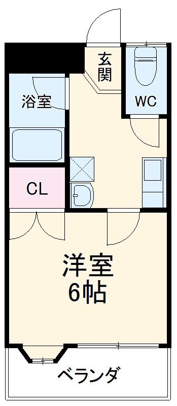 未貴ハイムABC棟 B203号室の間取り
