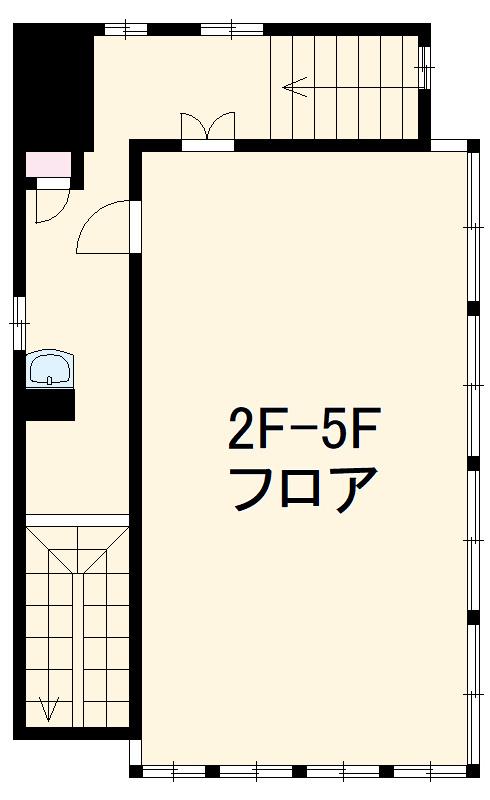 横芝駅前ビル 2F号室の間取り