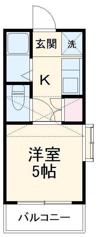 ロイヤル・タカラⅡ 201号室の間取り