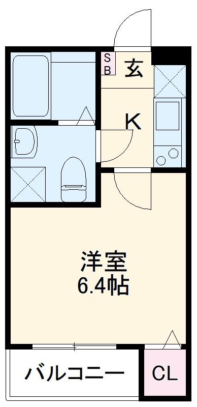 グランクオーレ武蔵浦和 101号室の間取り