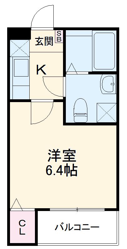 グランクオーレ武蔵浦和 102号室の間取り
