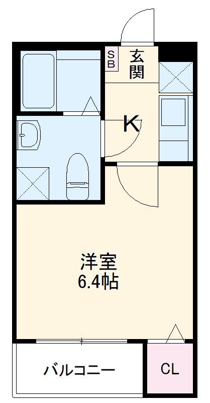グランクオーレ武蔵浦和 301号室の間取り
