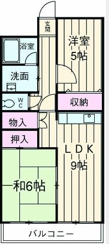 西沢マンション 102号室の間取り
