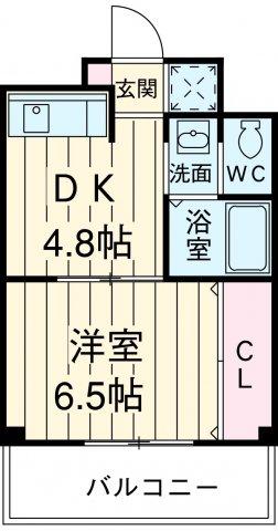 第10秋葉ビル 206号室の間取り