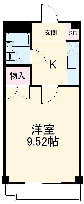 武蔵浦和ハイツ 302号室の間取り