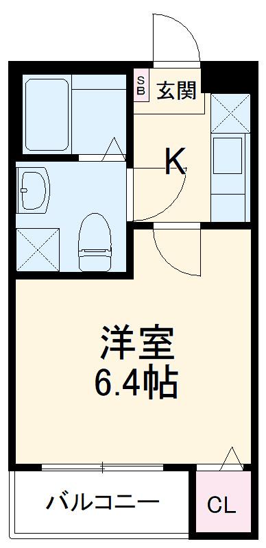 Watari 101号室の間取り
