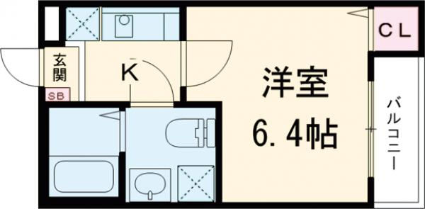 Watari 201号室の間取り