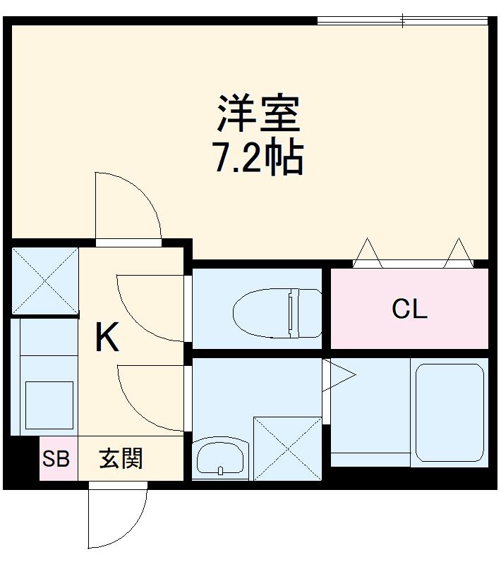 ミライエ武蔵浦和 101号室の間取り