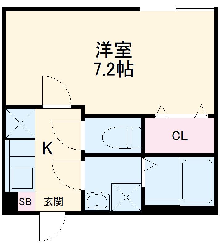 ミライエ武蔵浦和 201号室の間取り