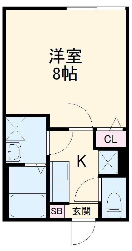 ミライエ武蔵浦和 202号室の間取り
