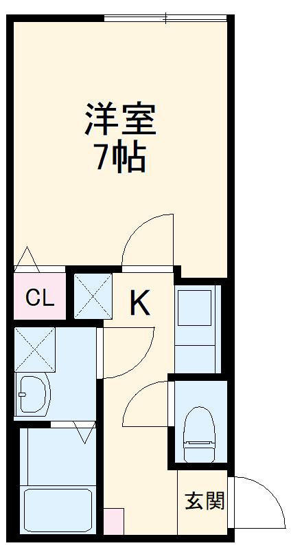 ミライエ武蔵浦和 203号室の間取り