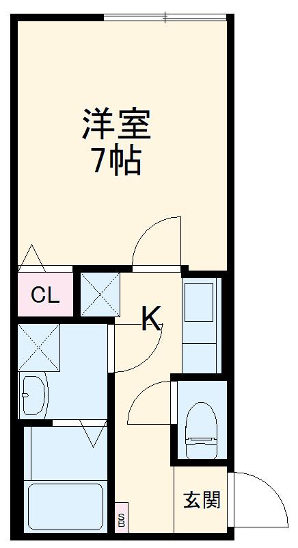 ミライエ武蔵浦和 303号室の間取り