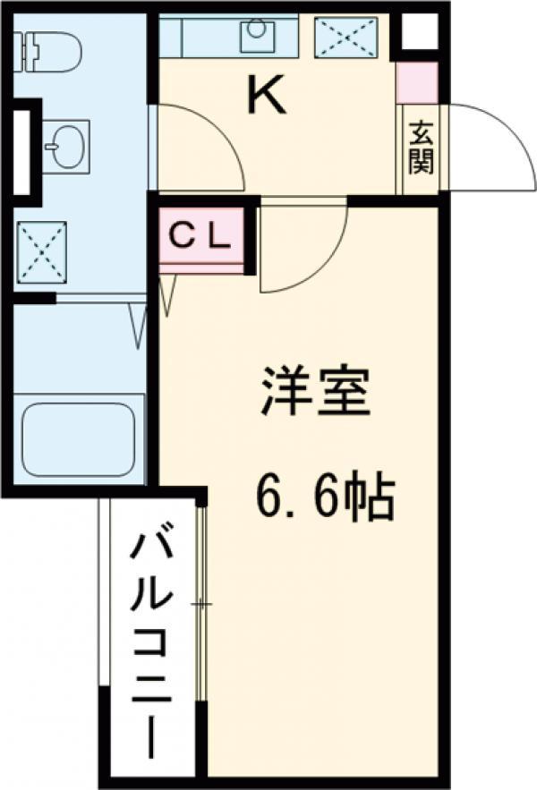 アークレス武蔵浦和 102号室の間取り