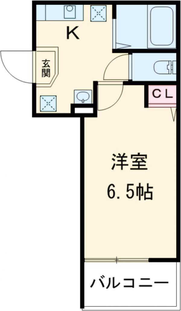 アークレス武蔵浦和 201号室の間取り