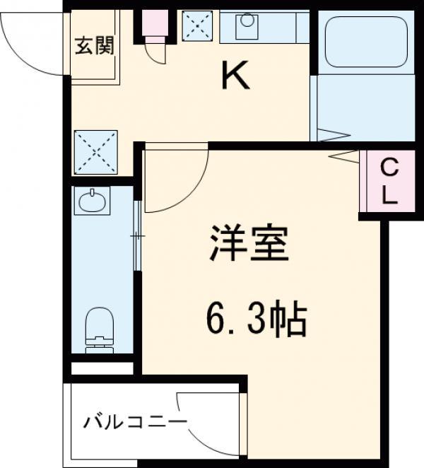アークレス武蔵浦和 203号室の間取り