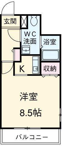 プリメール箱崎Ⅱ 503号室の間取り