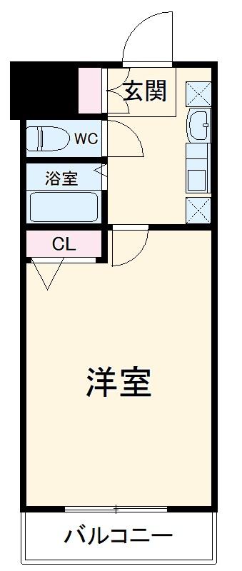 エステムコート博多祇園ツインタワーセカンドステージ 1304号室の間取り