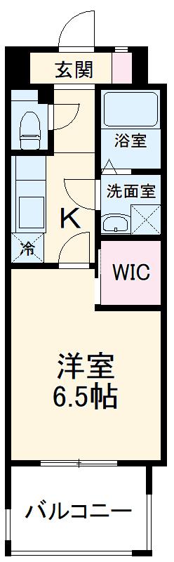 ウェルブライト博多 1106号室の間取り