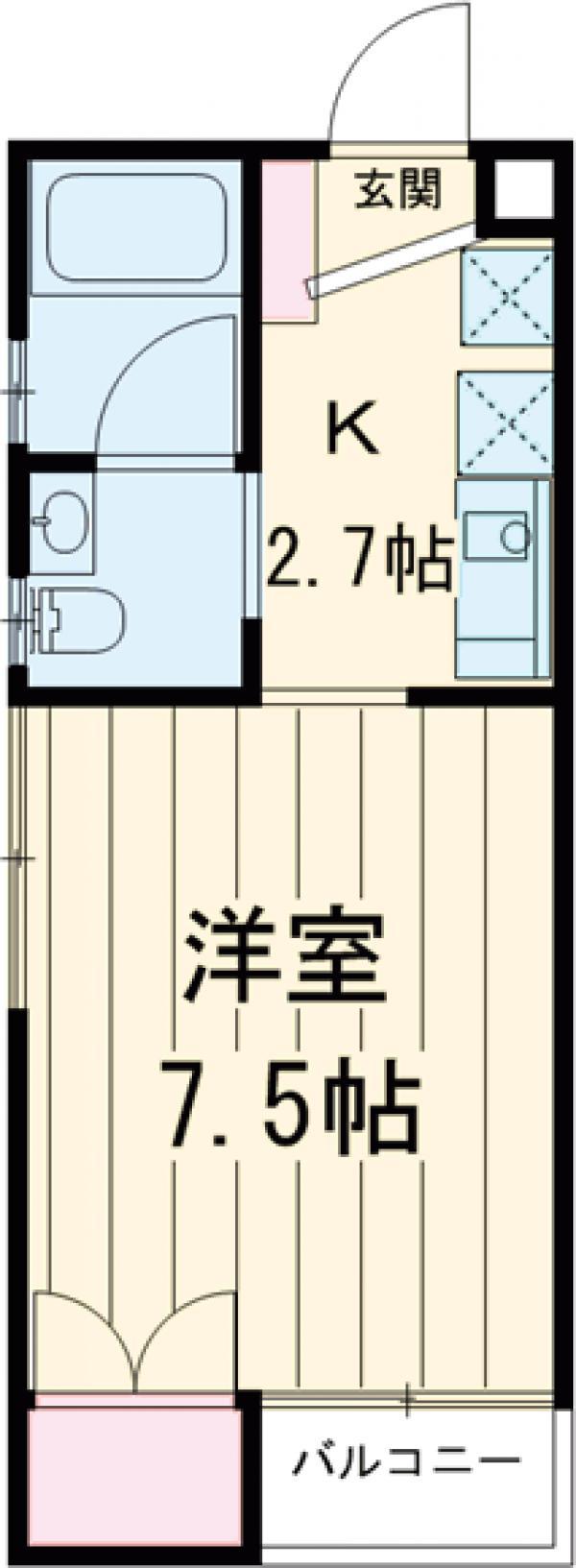 Alta Todoroki 303号室の間取り