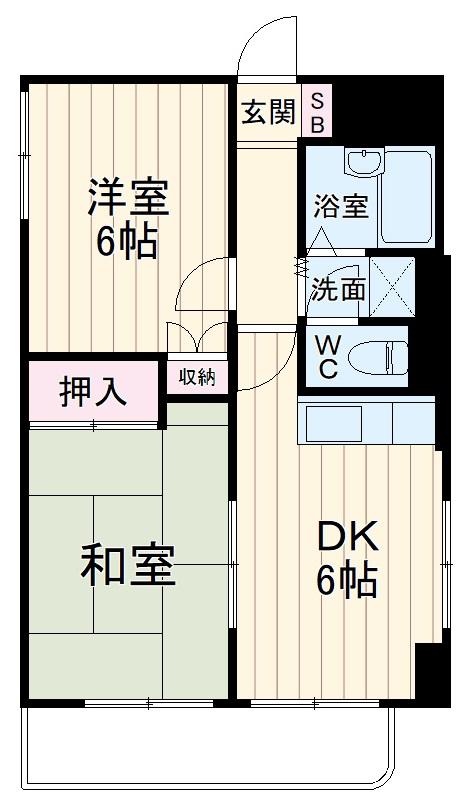 大倉山エステハイツ第3 205号室の間取り