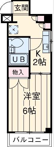 ハナブサマンション 303号室の間取り