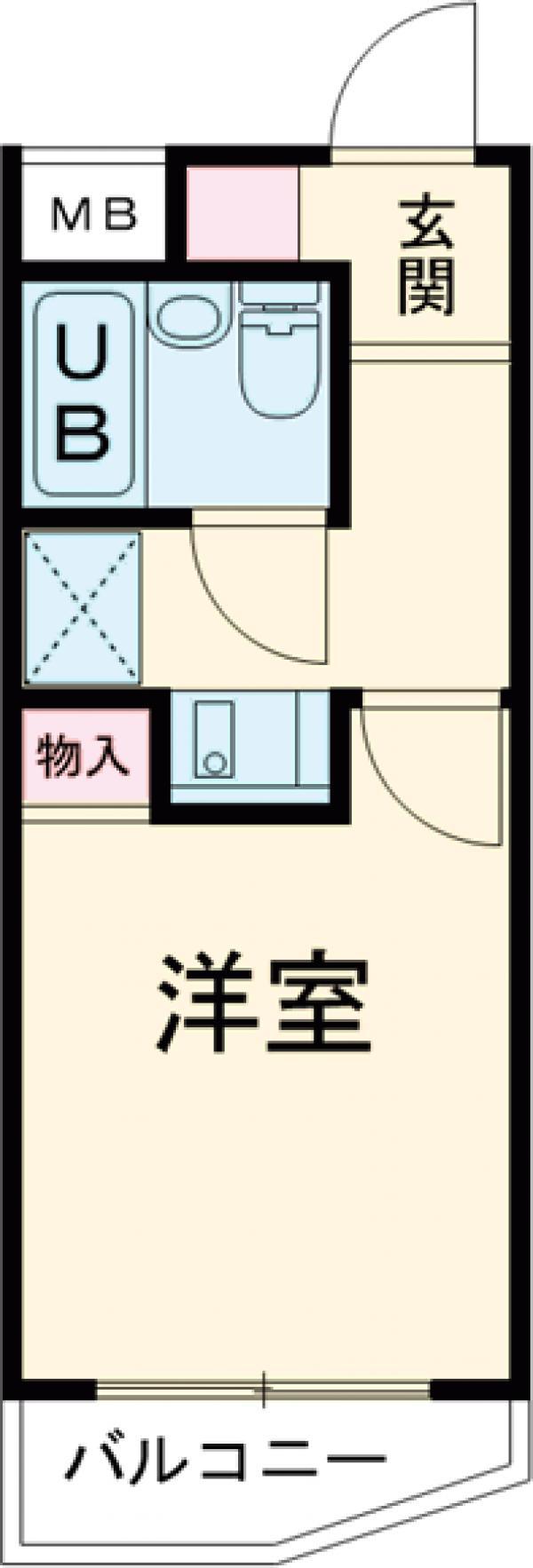 スカイコート駒沢公園 204号室の間取り
