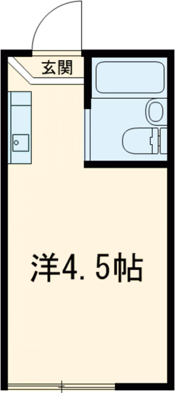 インデンス三軒茶屋Ⅲ 103号室の間取り