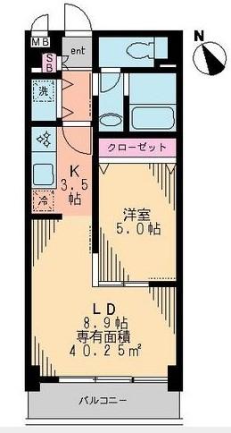 リヴェール三軒茶屋 303号室の間取り