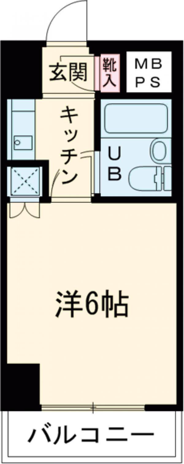 ライオンズマンション三軒茶屋第6 604号室の間取り