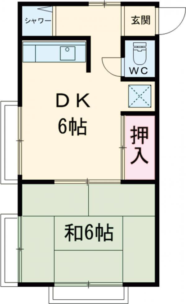 山本アパート 203号室の間取り