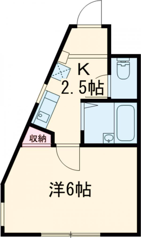 メゾンK 102号室の間取り