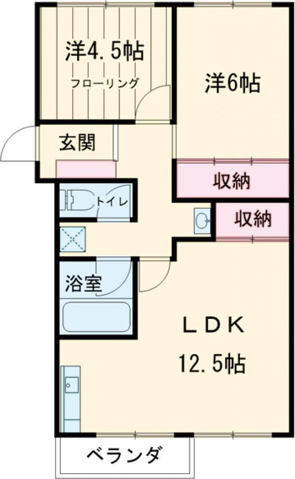 中銀世田谷マンション1号館 403号室の間取り