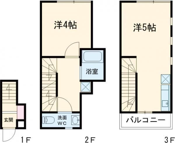 PRESI三軒茶屋Ⅱ 202号室の間取り