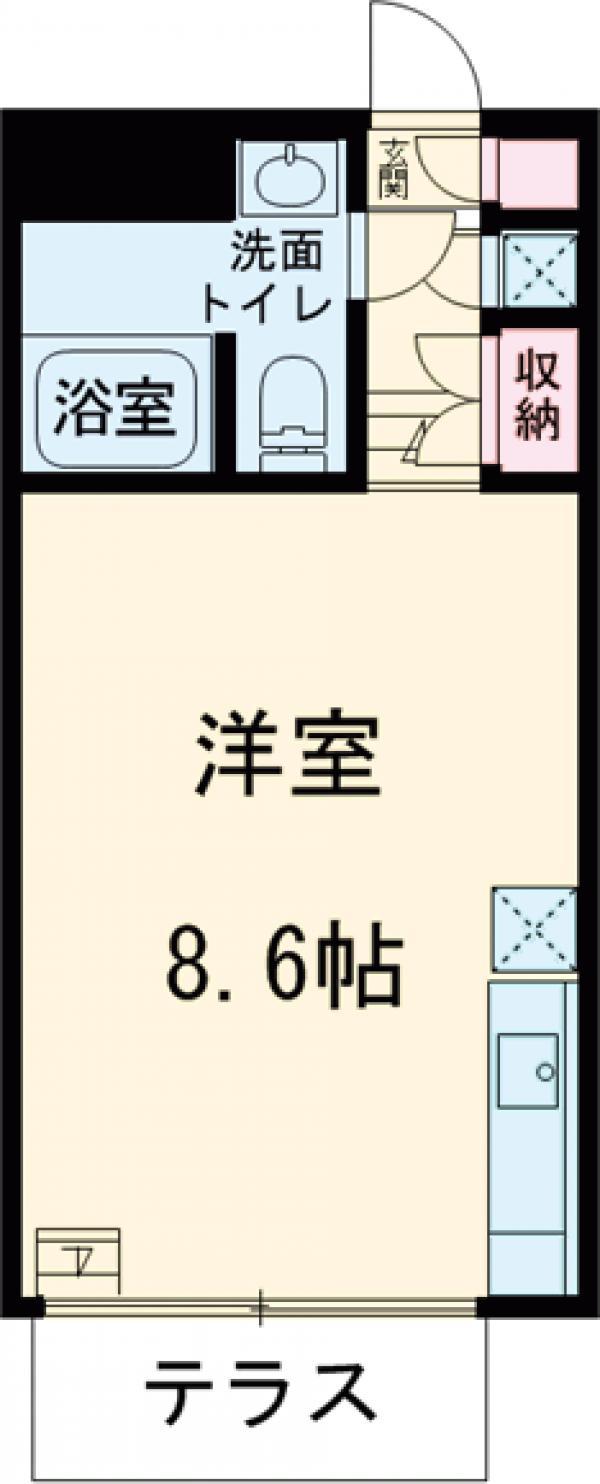 KAMIUMA PLACE 105号室の間取り