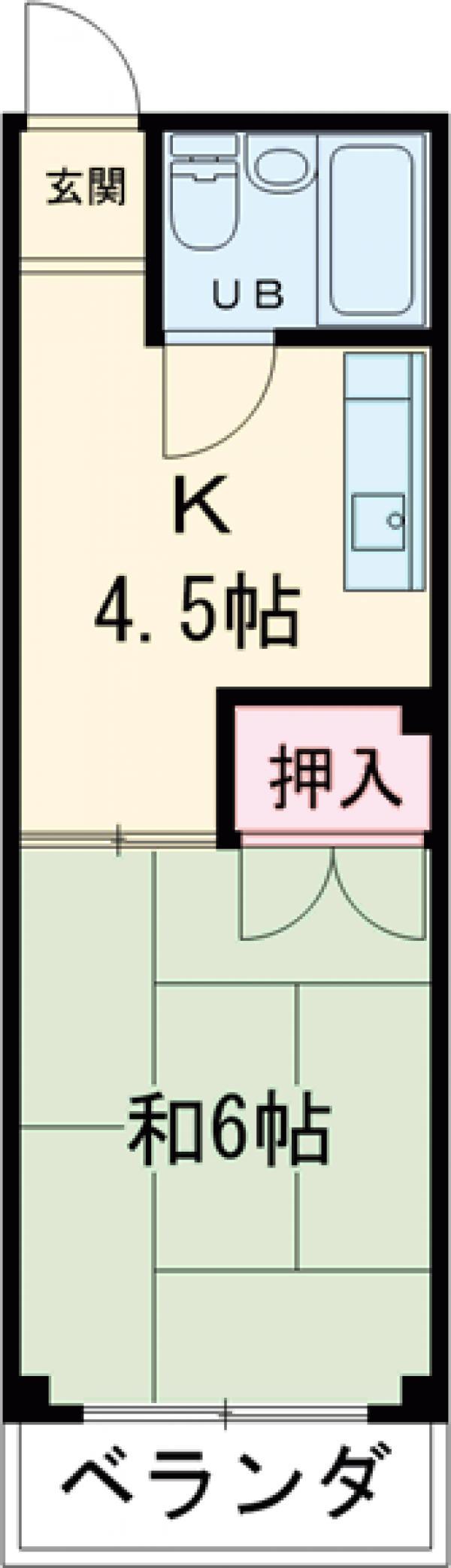 アートピア駒沢 204号室の間取り