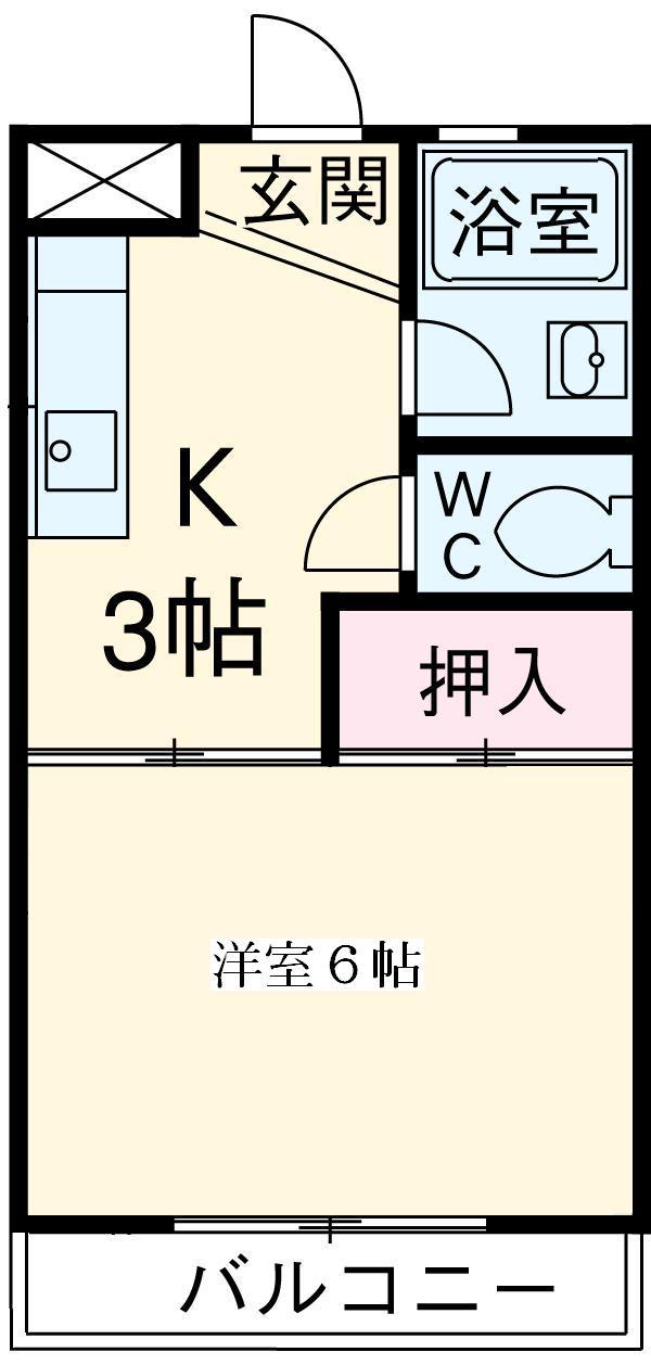 岡本マンション 303号室の間取り