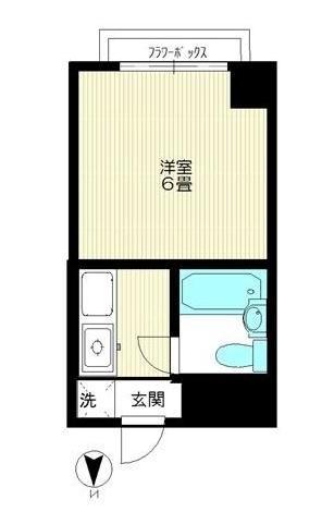 JM's CHIDORI 303号室の間取り