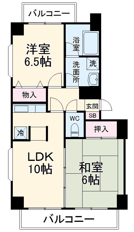 北上尾藤沢マンション 101号室の間取り