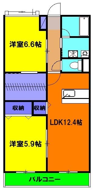 リューレント・R Ⅱ 303号室の間取り