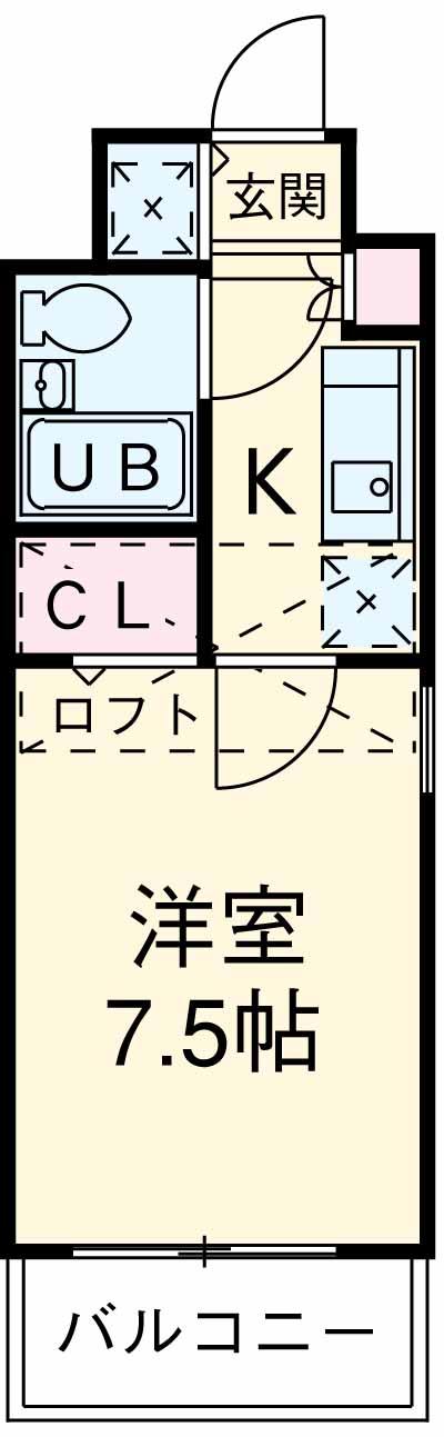 ラ・レジダンス・ド・福岡県庁前 308号室の間取り